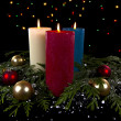 Christmas Candles — Photo
