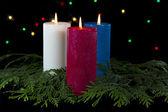 Kleurrijke kaarsen — Stockfoto