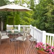 Foto Stock: Outdoor Patio