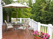 Outdoor Patio — Stock Photo
