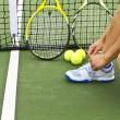 Tennis Preperation — Stock Photo