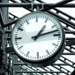 Stock Photo: Clock in Subway Station