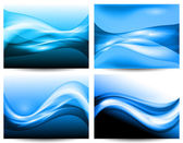3d stylized water waves, vector — Stock Vector