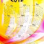 Calendar 2012, vector — Stock Vector