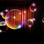 Glowing bubbles, vector — Stock Vector