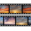 Film with images of sky — Stock Photo