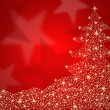 Christmas tree background with stars — Stock Photo #6616040