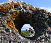Qarahunch ancient observatory — Stock Photo