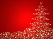Christmas tree background with stars — Stock Photo