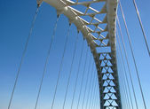 Part of the bridge on the blue sky — Stock Photo
