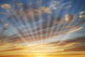 Sky with sun rays — Stock Photo