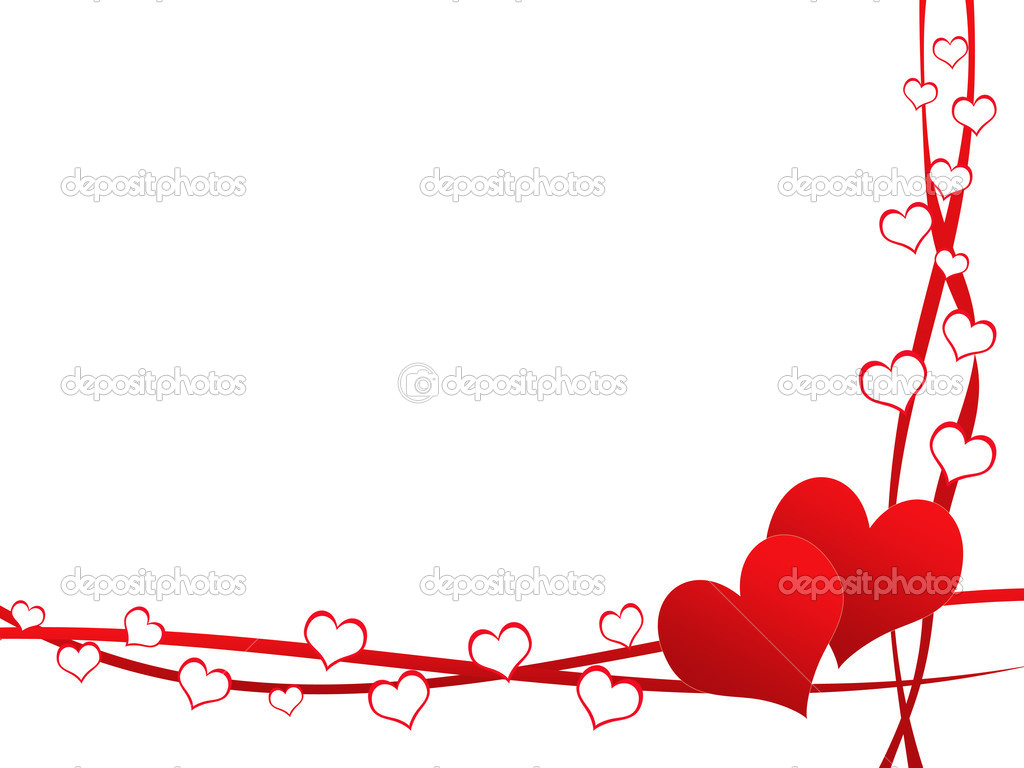 Valentine day card with ribbons and hearts  Stock Photo #6617838