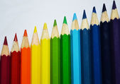 虹色の鉛筆 — ストック写真