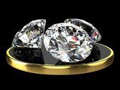 Three diamonds — Stock Photo