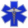 Star of life medical symbol - 图库照片