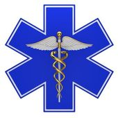 Star of life medical symbol — Stock Photo