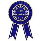 Blue Ribbon Award — Stock Photo