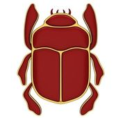 Red scarab — Stock Photo