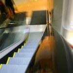 Blurred escalator — Stock Photo #5939723