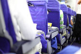 Airplane seats in row — Stock Photo