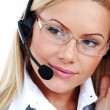 Woman call with headset — Stock Photo #6643200