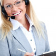 Woman call with headset — Stock Photo #6643203