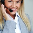 Woman call with headset — Stock Photo #6643210