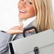 Business woman with case — Stock Photo #6643222