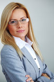 Business woman in glasses — Stockfoto