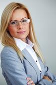 бизнес-леди в очках — Стоковое фото