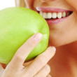 Woman eat apple — Stock Photo #6651218