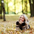 Autumn woman — Stock Photo