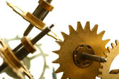 Mechanical clock gear — Stockfoto