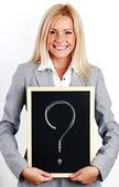 Soru işareti — Stok fotoğraf