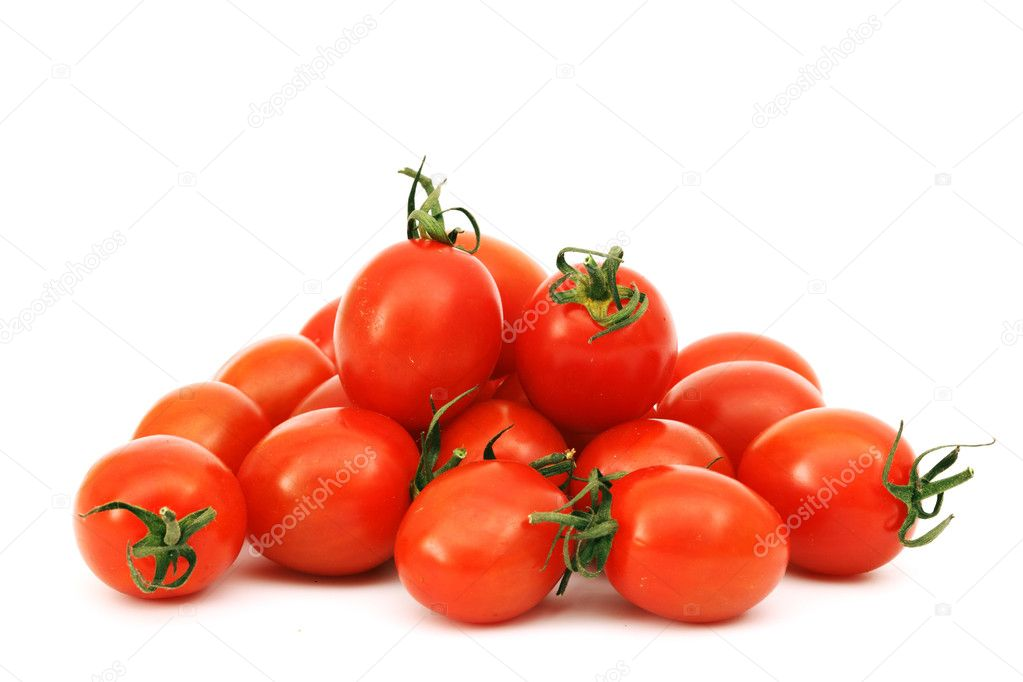 Cherry tomato isolated on white  Stock Photo #6650449