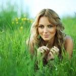 Blonde on grass — Stock Photo #6668952
