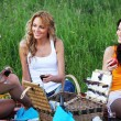 Girlfriends on picnic — Stock Photo #6669052