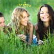 Girlfriends on grass — Stock Photo #6669314