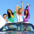 Joy in cabriolet — Stock Photo #6669438