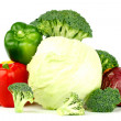 Big vegetarian pile - Stock Photo
