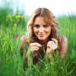 Stock Photo: Woman on the grass