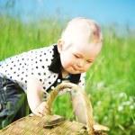 Boy on picnic — Stock Photo #6693948