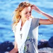 Blond near sea — Stock Photo