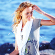 Stock Photo: Blond near sea