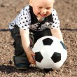 Boy play soccer — Stock fotografie #6699338