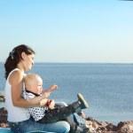 piquenique perto do mar — Foto Stock