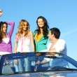 Friends in car — Stock Photo #6700425