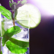 Mojito on black — Stock Photo