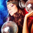 Stock Photo: Disco girl
