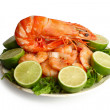 Boiled shrimps — Stock Photo